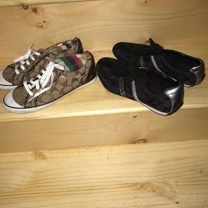 2 pair of Coach sneakers 👌